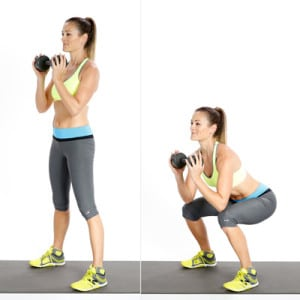 Goblet squats cellulite exercise